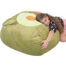 Youngeyee Giant Avocado Stuffed Animal Storage Kids Bean Bag Chair 24