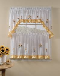Walmart Kitchen Cafe Curtains by Kitchen Curtains At Walmart Decor Beautiful Kitchen Curtains