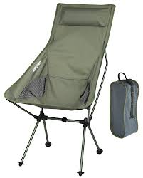 Portable Directors Chair by Marchway Lightweight Portable Folding High Back Camping Chair With