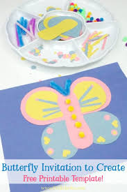 Your Kids Can Create This Easy Paper Butterfly When You Set Up An Invitation To