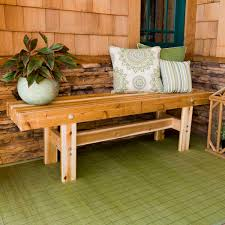 How To Build An Outdoor Trestle Bench The Family Handyman