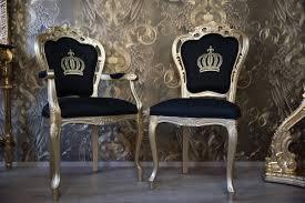 pompöös by casa padrino luxus barock esszimmerstuhl schwarz gold pompööser barock stuhl designed by harald glööckler