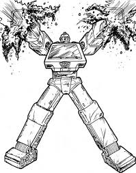IronHide Transformers Coloring Pages For Kids