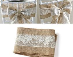 Chair 6PCS Pack Vintage Hessian Jute Burlap Sashes Tie Bow For Rustic Wedding Decoration Valuable Pew Bows Sweet How To Make