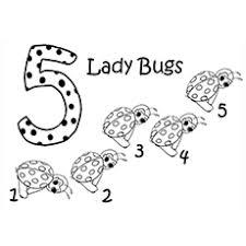 5 Ladybugs Ladybug Friends Forever Coloring Page
