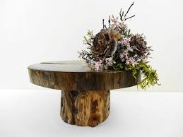 9 95 Wooden Pedestal Tree Stand Wedding Decor Cake Centerpiece Display Cupcake Rustic Home