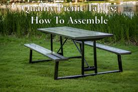 how to assembly your quality picnic table youtube