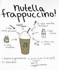 Drawn Nutella Starbucks 1