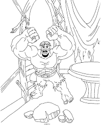 Free Printable Super Heroes Coloring Pages Incredible Hulk For Kids