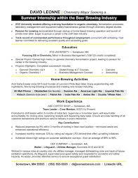 Resume Intern Example