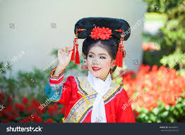 happy chinese new year concept smiling stock photo 369448931