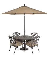 Macys Patio Dining Sets by Grove Hill Outdoor Cast Aluminum 5 Pc Dining Set 48