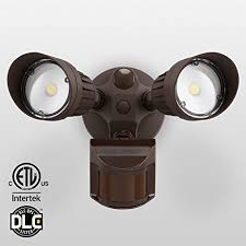20w dual motion activated led outdoor security light