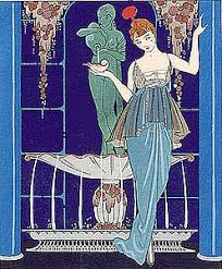 Illustration By Georges Barbier Of A Gown Paquin 1914 Stylized Floral Designs And Bright Colors Were Feature Early Art Deco