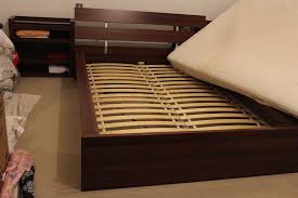 ikea hopen king size bed frame integrated headboard 2x pullout