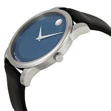 Movado Mini Desk Clock by Home Garden U0026 More Movado 0606610 Museum Blue Dial Watch