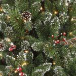 Hayneedle Flocked Christmas Trees by Lightly Flocked Snowbell Pine Pre Lit Full Christmas Tree