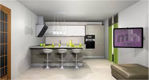 amenagement salon cuisine cuisine américaine ouverte sur salon cuisine en image