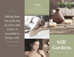 Green And Brown Modern Spa Trifold Brochure