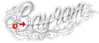 Step 3 How To Draw A Lettering Tattoo