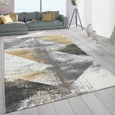 details zu frisé teppichin pastellfarben kurzflor für wohnzimmer mit used look in gelb