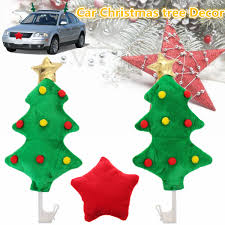 NEUFU Arbre De Noël Avec Étoile Décoration Voiture Sapin De Noël