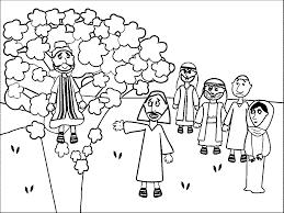 Zacchaeus Jesus Coloring Pages
