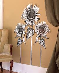 Wall Mural Decals Flowers by Sunflowers Sun Flower Wall Murals Black White Floral Decor Walls