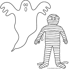 Haunted Halloween Crossword Puzzle by Ghost With Mummy Coloring Page Halloween