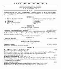 Ultrasound Resume Exles by Sonographer Resume Sles Best Ultrasound Technician Exle