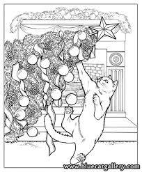 Santas Cats Christmas Adult Coloring Book