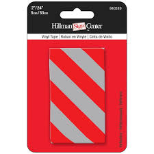Decorative Reflective Driveway Markers by The Hillman Group 24 In X 2 In Red Silver Reflective Tape 840380