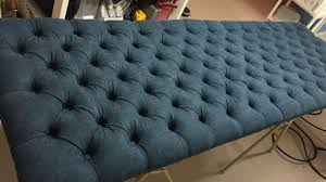 Diamond Tufted Headboard With Crystal Buttons by How To Make A Tufted Headboard Youtube