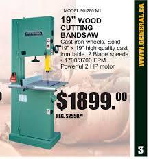 general international bandsaw model number canadian woodworking
