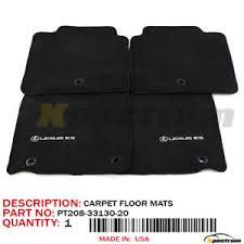 lexus 13 15 es350 300h original oem floor mats 4pc pt208 33130 20