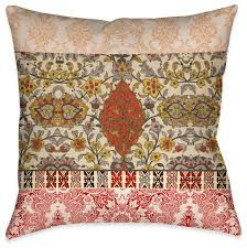 Laural Home Red Spice Bohemian Tapestry Outdoor Decorative Pillow
