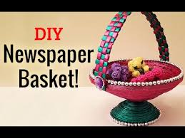 Learn How To Make Newspaper Basket Step By