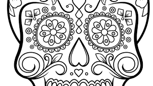 Sugar Skull Pumpkin Carving Patterns by Simple Sugar Skull Outline Sugar Skull Felt Pattern Simple Sugar
