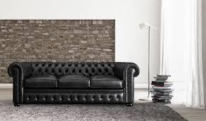 canapé chesterfield cuir noir canapé chesterfield en cuir 3 places noir b v