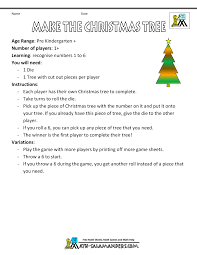 Make The Christmas Tree Game Board Instructions