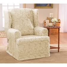 Wingback Chair Slipcover Linen by Wing Chair Slipcover White