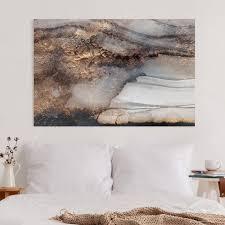 leinwandbild goldener marmor gemalt querformat 2 3