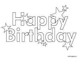 Stylist Design Happy Birthday Coloring Pages For Kids Free Printable
