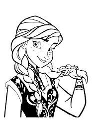 Frozen Coloring Pages Of Anna And Elsa Jpg Dans The Snow Queen
