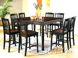 Dining Table Set 9 Piece Elegant Counter Height Room Sets Rustic
