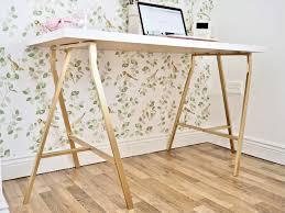 Writing Desk Ikea Uk by Metallic Gold Ikea Desk Hack Rustoleum Spray Paint