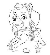 Marvelous Decoration Skye Paw Patrol Coloring Pages Sketch Template Psi