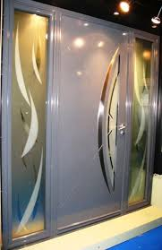 porte d entrée à 1 ouvrant et 2 fixes vitrés