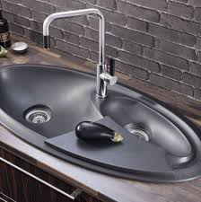 Double Kitchen Sinks With Drainboards by Double Kitchen Sink Granite Oval With Drainboard Ovalé