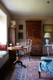 small country living room with antique furniture small living